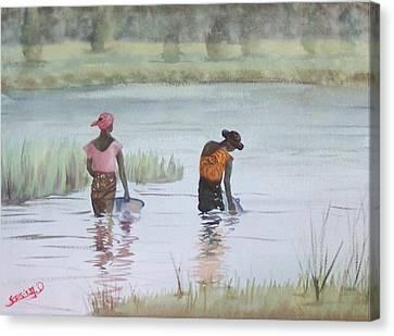 Scene D'afrique  Scene Of Africa Canvas Print by Dominique Serusier