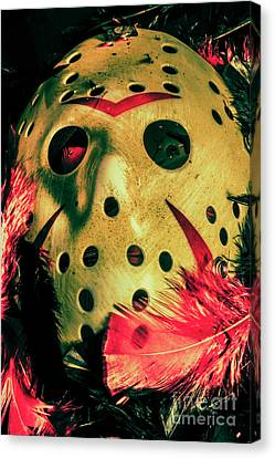 Goalie Canvas Print - Scene From A Fright Night Slasher Flick by Jorgo Photography - Wall Art Gallery