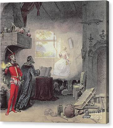 Character Study Canvas Print - Scene From Faust By Gounod by Unknown