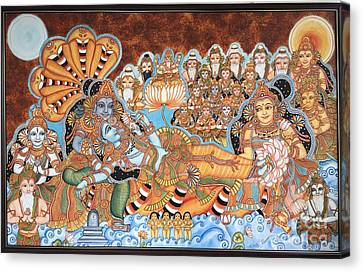 Scene From Haven -ananthashayanam Canvas Print by Nirmala Menon