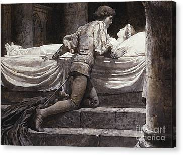 Juliet Canvas Print - Scene From Romeo And Juliet - The Tomb  by Frank Dicksee
