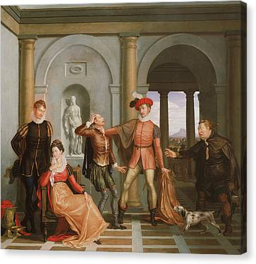 Scene From Shakespeare's The Taming Of The Shrew Canvas Print by Washington Allston