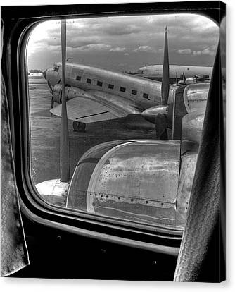 Scene From The Golden Age Of Flight Canvas Print by William Wetmore