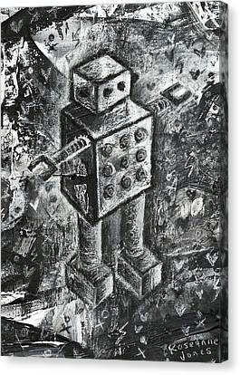 Scene Kid Robot Canvas Print by Roseanne Jones