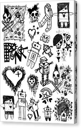 Scene Kid Sketches Canvas Print