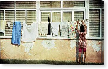 Scene Of Daily Life Canvas Print