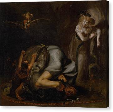 Scene Of Witches Canvas Print by Henry Fuseli