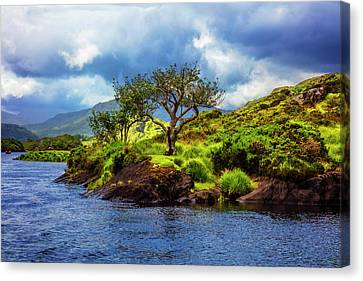 Scenery On The Lake Canvas Print by Debra and Dave Vanderlaan