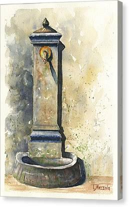 Public Holiday Canvas Print - Scenes Of Italy, Street Faucet I by Antonio Mazzola