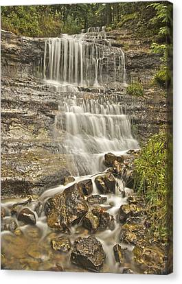Michigan Waterfalls Canvas Print - Scenic Alger Falls  by Michael Peychich