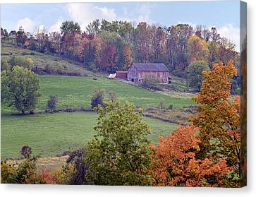 Scenic Amish Landscape 1 Canvas Print by SharaLee Art