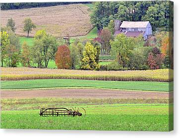 Scenic Amish Landscape 4 Canvas Print by SharaLee Art