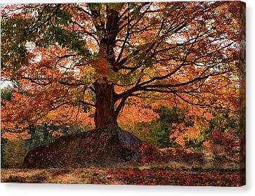 Autumn Canvas Print - Scenic Byway In Peabody Ma by Jeff Folger