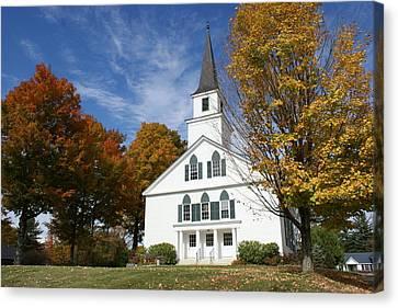 Scenic Church In Autumn Canvas Print