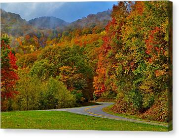 Smokey Mountain Drive Canvas Print - Scenic Drive by Dennis Nelson