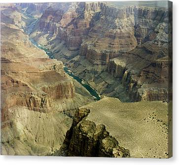 Scenic Grand Canyhon And Colorado River Canvas Print by M K  Miller