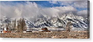 Canvas Print featuring the photograph Scenic Mormon Homestead by Adam Jewell