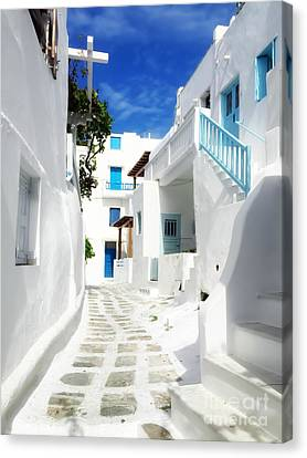 Scenic Mykonos Canvas Print by HD Connelly