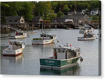 Scenic New Harbor Maine Canvas Print by Juergen Roth