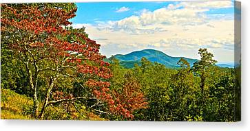 Scenic Overlook Blue Ridge Parkway Canvas Print by The American Shutterbug Society