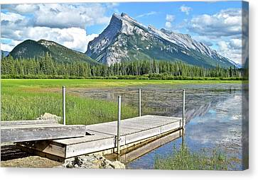 Canadian Marsh Canvas Print - Scenic Stop Along Vermillion Lakes by Frozen in Time Fine Art Photography