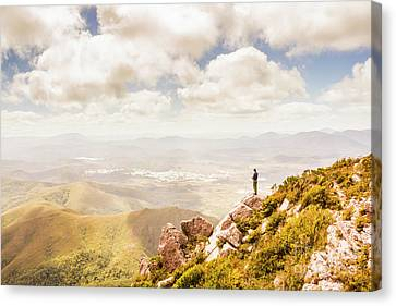 Scenic View Of Mt Zeehan, Tasmania, Australia Canvas Print by Jorgo Photography - Wall Art Gallery