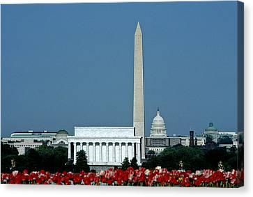 Scenic View Of Washington D.c Canvas Print by Kenneth Garrett