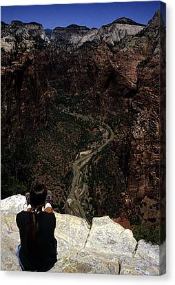 Scenic View Of Zion National Park Canvas Print by Stacy Gold