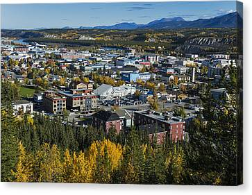 Scenic View Over Whitehorse, Yukon Canvas Print by Mark Newman