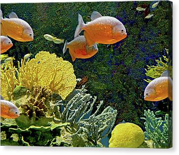 Canvas Print featuring the mixed media Scenic Waters by Lynda Lehmann