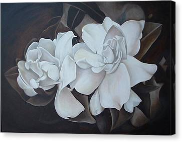 Scent Of Gardenias Canvas Print by Daniela Easter