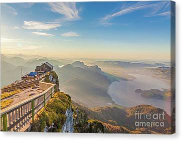 Bahn Canvas Print - Schafberg Mountain Panorama by JR Photography