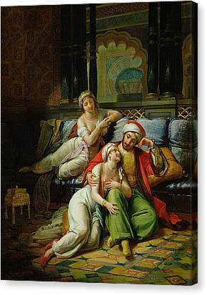 Muslims Canvas Print - Scheherazade by Paul Emile Detouche
