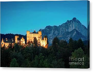 Canvas Print featuring the photograph Schloss Hohenschwangau by Brian Jannsen