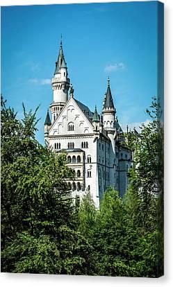 Canvas Print featuring the photograph Schloss Neuschwantstein by David Morefield