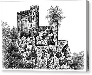 Schloss Rheinstein - Rheinstein Castle Canvas Print by Deborah Willard