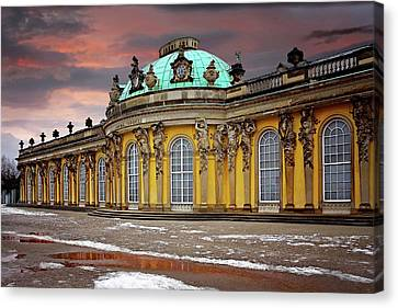 Europe Canvas Print - Schloss Sanssouci Potsdam  by Carol Japp