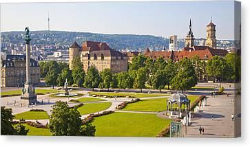 Schlossplatz Square In Stuttgart Canvas Print