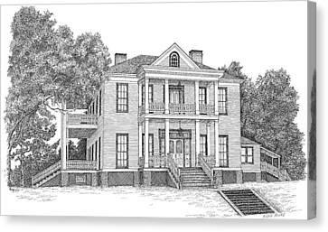 Schluter House In Jefferson Texas Canvas Print by Mickie Moore