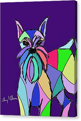 Schnauzer Colors Canvas Print by Terry Chacon