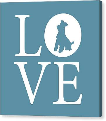 Standard Schnauzer Canvas Print - Schnauzer Love by Nancy Ingersoll