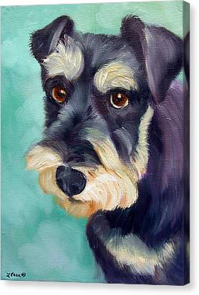 Schnauzer Canvas Print by Lyn Cook
