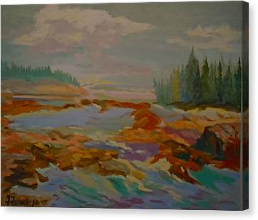 Canvas Print featuring the painting Schoodic Inlet 2 by Francine Frank