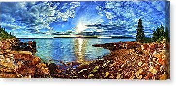 Schoodic Point Cove Canvas Print