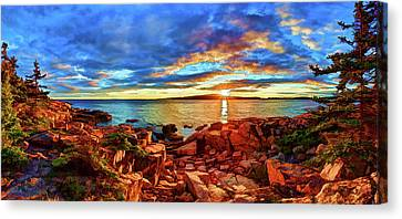 Schoodic Point Sunset Canvas Print by ABeautifulSky Photography