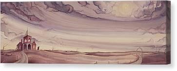 School And Gateway Canvas Print by Scott Kirby
