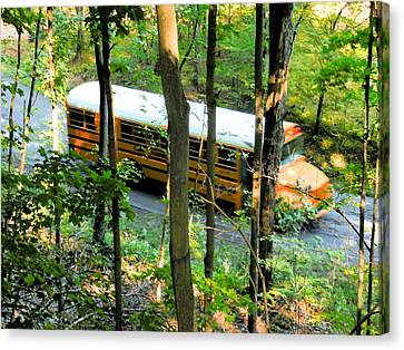 School Bus Canvas Print by Lanjee Chee