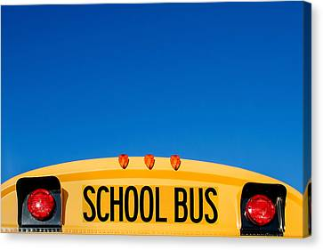 School Bus Canvas Print - School Bus Top by Todd Klassy