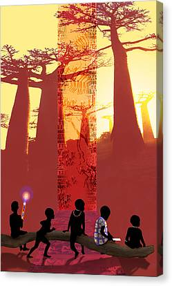 School Days Canvas Print by Mark Myers