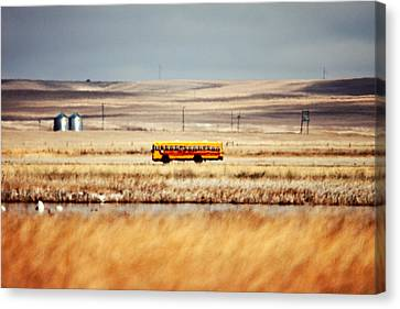 School Bus Canvas Print - School Daze by Todd Klassy